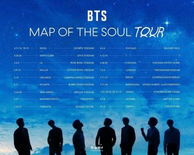 [コンサートツアー情報] 防弾少年団(BTS)2020ワールドツアー日程を発表✨